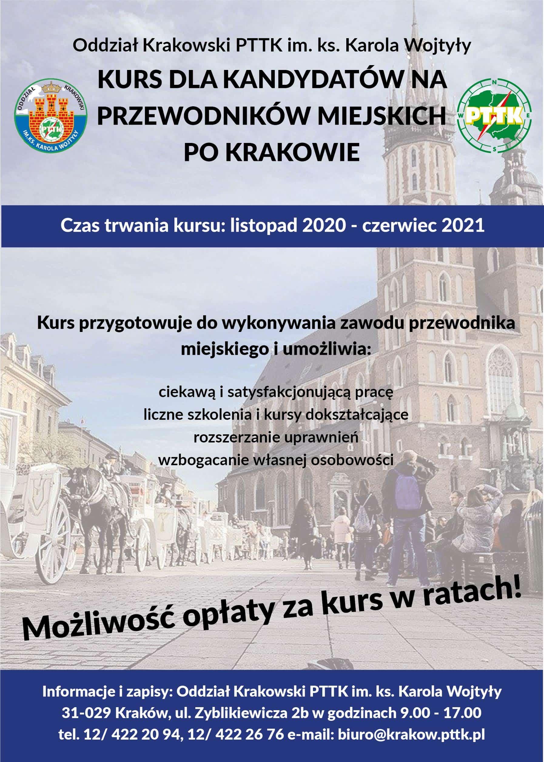 Kurs przewodników miejskich po Krakowie PTTK