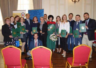 zdjęcia z rozdania certyfikatów przewodnickich w Urzędzie Miasta Krakowa z 24 września 2020.